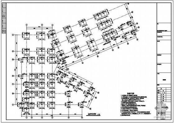 某基地3套别墅地下室结构设计图