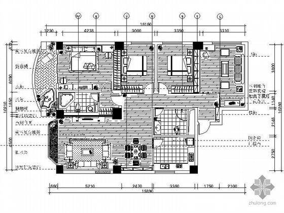 [成都]130平米三居室设计图(含效果)