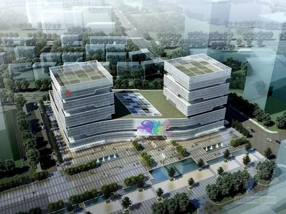 [南京]12层玻璃幕墙办公楼建筑方案文本(含PDF 两个方案)