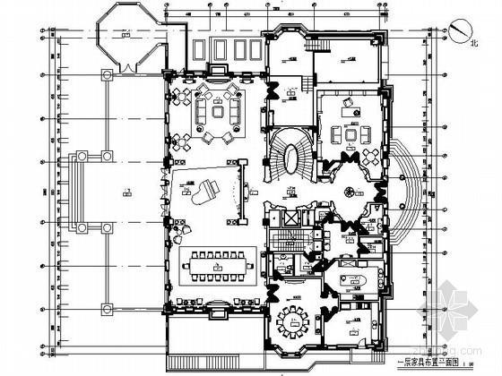 上海超奢华独栋三层别墅室内施工图(含效果)
