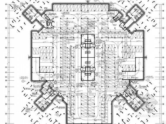 [重庆]产业园区高层办公楼通风及防排烟系统设计施工图(含人防设计)