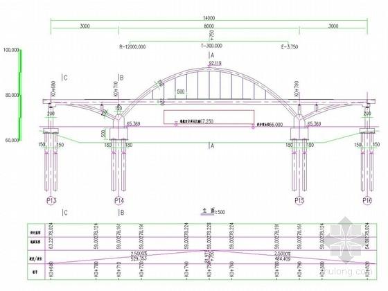 [湖北]后张法拱梁固结体系30+80+30m中承式系杆拱桥设计图纸112张