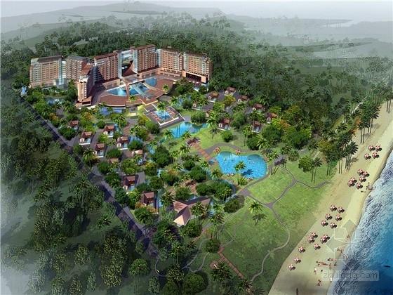 """[海南]""""鱼入龙门""""五星级滨海度假酒店设计方案文本(含2个方案)"""