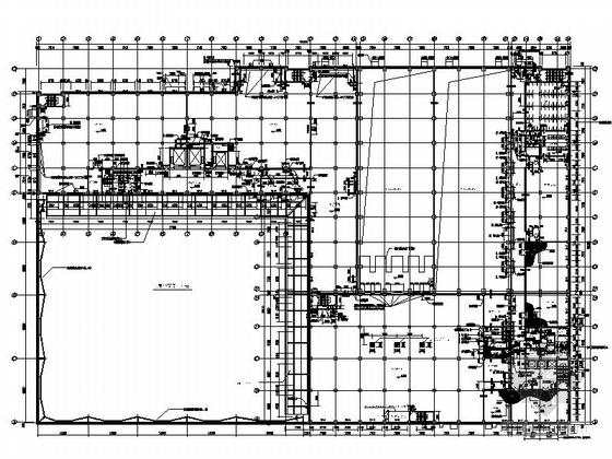 [上海]5层现代风格知名企业辅助厂房设计施工图(图纸精细值得参考)-5层现代风格知名企业辅助厂房平面图