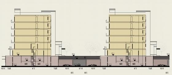 新古典风格住宅区规划剖面图