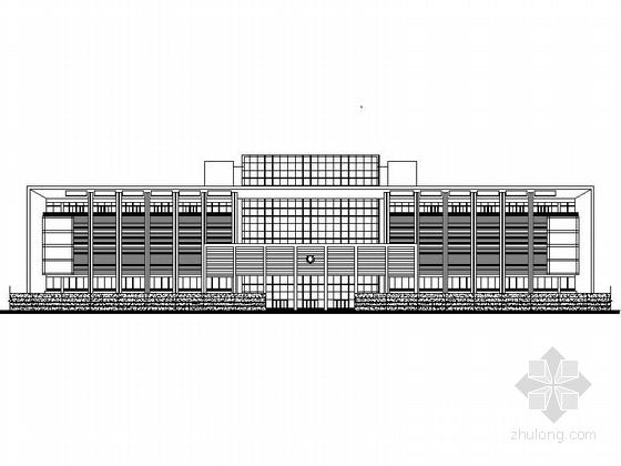 [江苏]9层现代行政办公主楼建筑设计施工图