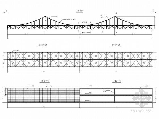 斜拉桥工程桁架结构施工图
