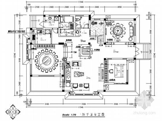 某精品特色三层中式别墅装修图(含效果)