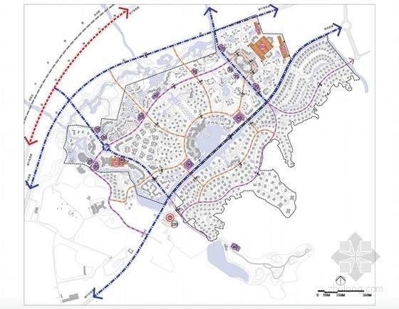 [江苏]国际级综合性旅游度假区景观规划方案-道路系统规划
