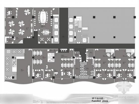[四川]现代风格办公室室内设计方案图