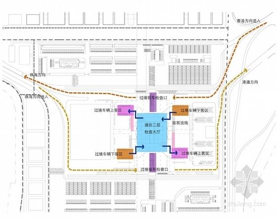 大型交通枢纽及多功能综合区规划方案分析图