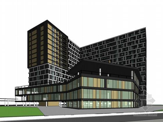 精美住宅建筑SketchUp模型下载