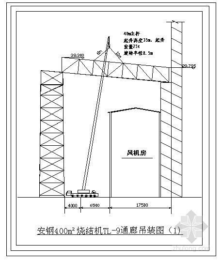 某钢结构通廊吊装节点构造图