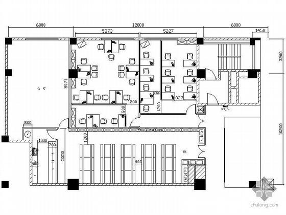 新世界二层办公室装修图
