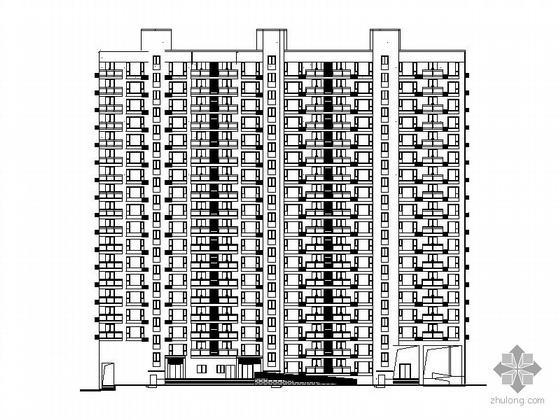 [长沙]某四季美景住宅区3#十八层商住楼建筑施工图(一梯二)