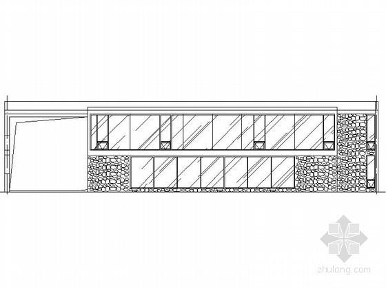 [武当山]玄武湖某国际大酒店二层接待中心建筑施工图