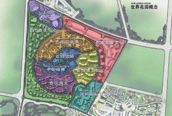 星河湾小区景观手绘方案