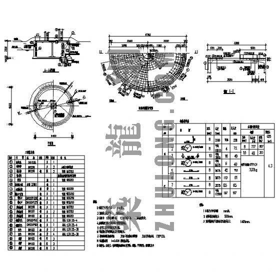 100T圆形水池结构图纸