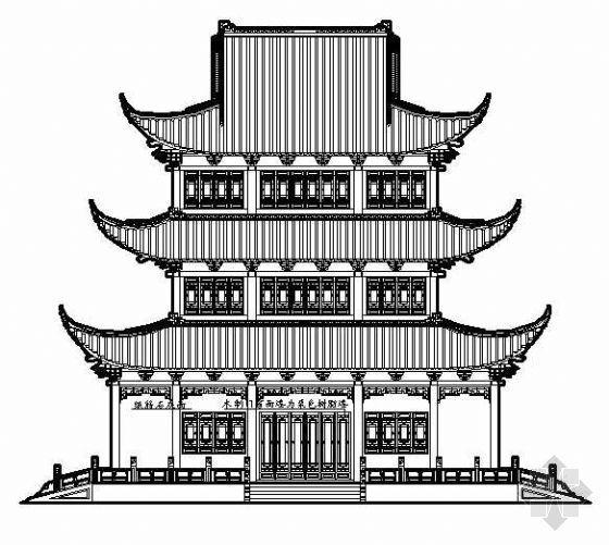 文昌阁古建筑施工图