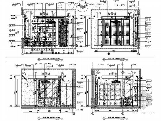 [原创]高档奢华三层别墅室内装修施工图(别墅细合川图纸图片