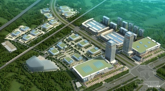 [江西]现代风格国际汽车城销售中心规划设计方案文本-现代风格国际汽车城销售中心效果图