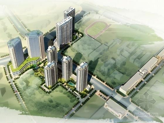 单体建筑酒店设计资料下载-[湖北]城市综合体及单体建筑设计方案文本