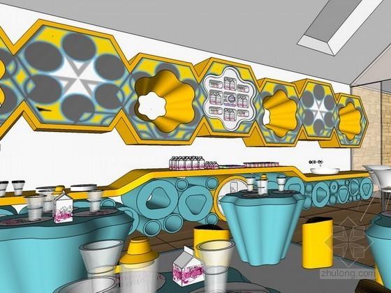 儿童餐厅sketchup模型下载