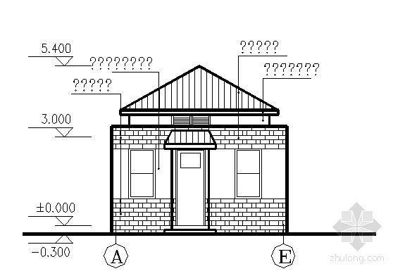 某绿地管理房建筑方案图-2