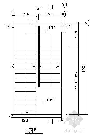 [深圳]门式刚架办公楼楼梯节点构造详图