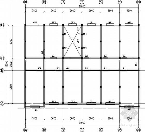 四层砖混宿舍结构施工图(条形基础 现浇板)