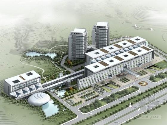 [广东]某医院规划及单体设计方案文本(含CAD)