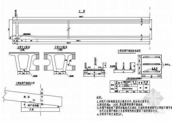 (75+2x120+75)m连续刚构引桥斜交简支箱梁钢筋布置节点详图设计