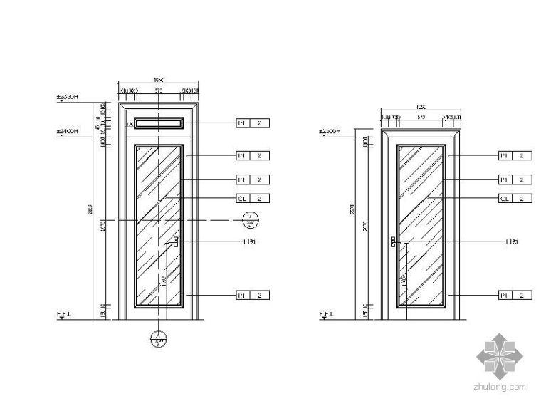 欧式卫生间门详图