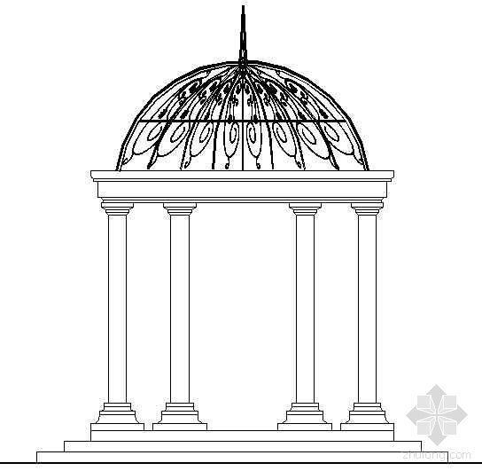 欧式景观亭详图