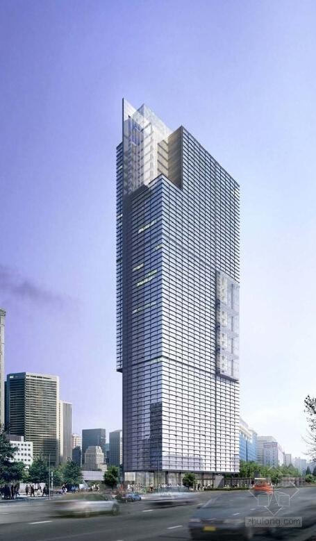 [上海]超高层知名金融办公建筑设计方案文本(知名事务所)-超高层知名金融办公建筑效果图