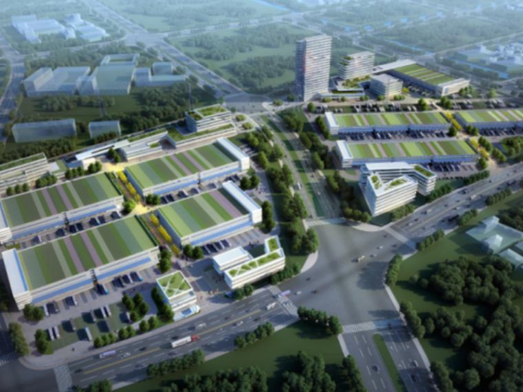 [浙江]宁波综合物流港产业园区建筑设计方案文本(高清效果图)