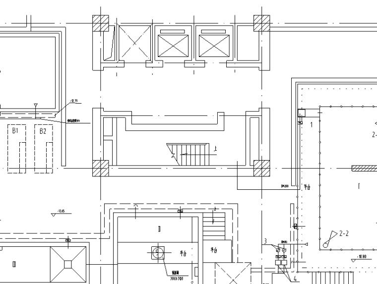 某13吨生化法中水处理系统图纸(CAD)