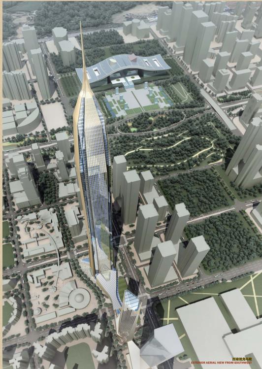 超高层企业办公楼建筑设计方案文本(全套图纸)