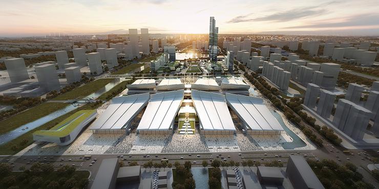 全国7大会展中心设计合集(实景图+效果图)-21-嘉兴国际会展中心效果图