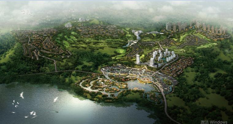 现代感公寓资料下载-后现代感玉溪抚仙湖国际休闲度假社区规划设计方案文本