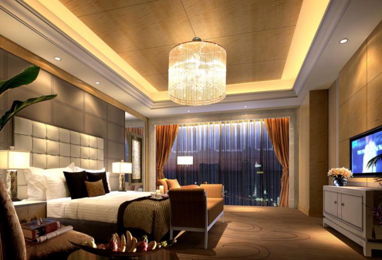 36000平米商务酒店设计施工图(附效果图+材料表)_6