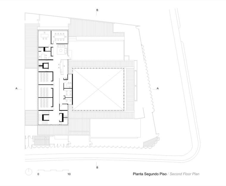 智利NBI社区里犹太教堂和社区中心的集合体-14