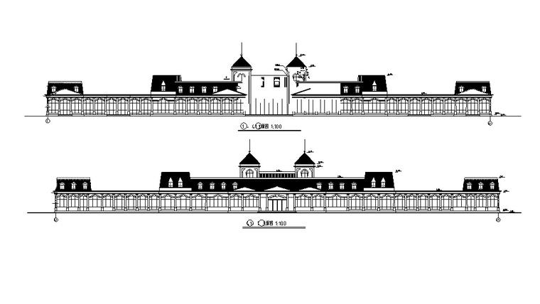 余杭茶馆建筑设计施工图