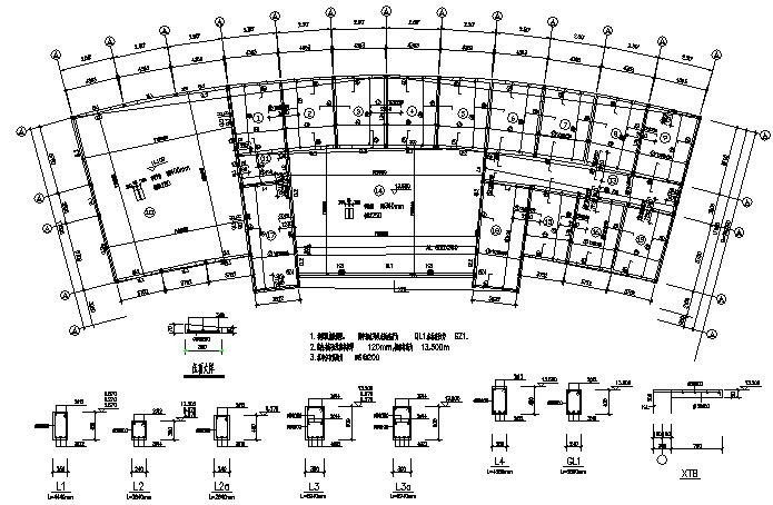 砖混框架结构办公楼施工图(CAD,9张)