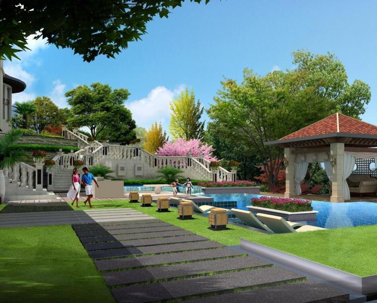 现代风格别墅会所模型设计