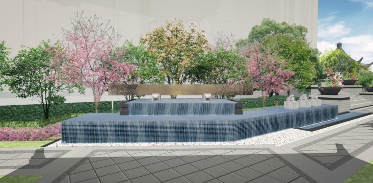 高端中式别墅庭院景观全套图_3