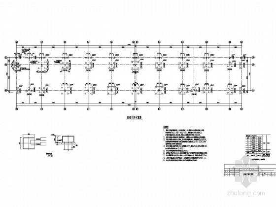 [长沙]六层框架结构学生宿舍结构施工图(预应力管桩)