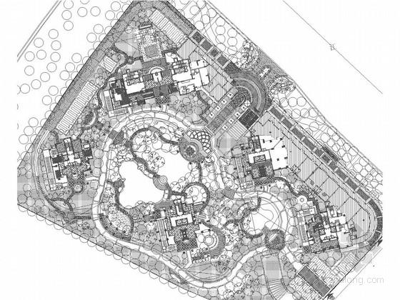 [杭州]城市高档居住区景观设计施工图