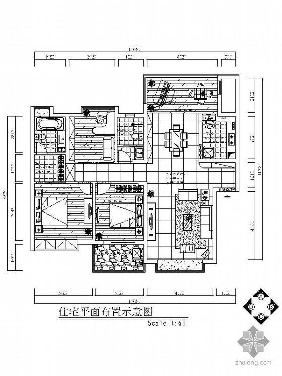 [南昌]简欧式三居室装修图(含效果图)