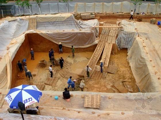倒冠式仿古建筑开挖加固施工工法(古墓坑 含申报书)